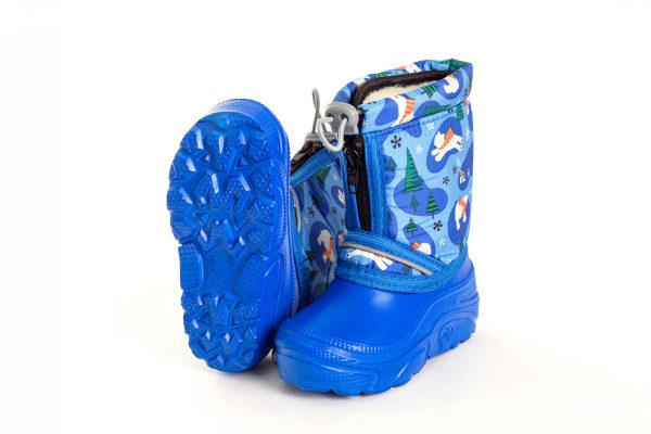 синие сапоги детские эва с резиновой подошвой