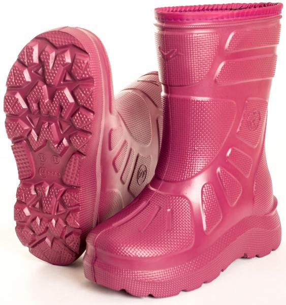 детские розовые резиновые сапоги