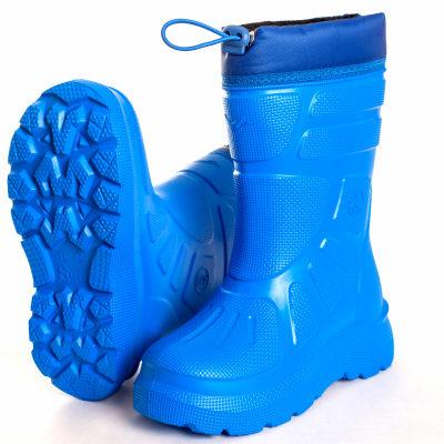детские синие резиновые сапоги