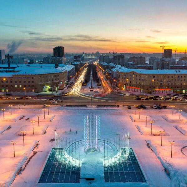 Новосибирск вид на площадь