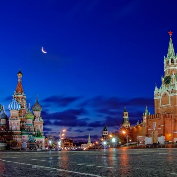 Москва вид на кремль